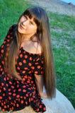 Mooie jonge vrouw, openlucht Stock Foto's