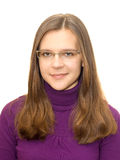 Mooie jonge vrouw in slimme vrijetijdskleding Royalty-vrije Stock Foto