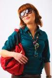 Mooie jonge vrouw in zonglazen Royalty-vrije Stock Fotografie