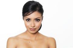 Mooie jonge vrouwen naakte huid Stock Foto's