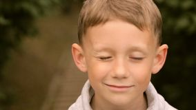 Mooie jongen, portret, volledige hdvideo stock footage