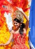 Mooie juffrouw in de carnaval zomer Royalty-vrije Stock Fotografie