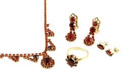 Mooie juwelenreeks Royalty-vrije Stock Foto's
