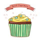 Mooie kaart beste cupcakes Stock Afbeelding