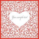 Mooie kaart met hart. Stock Fotografie