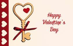 Mooie kaart voor de dag van Valentine ` s stock afbeelding
