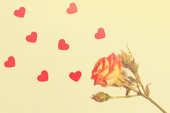 Mooie kaart voor de dag van Valentine ` s royalty-vrije stock fotografie
