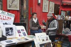 Mooie kaarten voor verkoop in de Portobello-markt dichtbij Notting-Heuvelpoort Londen Royalty-vrije Stock Afbeelding