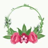 Mooie kaderbloemen Stock Foto's