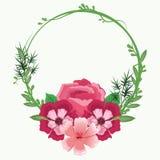 Mooie kaderbloemen Royalty-vrije Stock Foto's