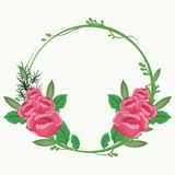 Mooie kaderbloemen Stock Foto