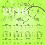 Mooie kalender voor 2016 Royalty-vrije Stock Foto's