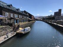 Mooie kanaal van Otaru het zo in Japan stock foto's