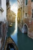 Mooie kanalen in Venetië. Italië Royalty-vrije Stock Afbeeldingen