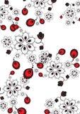 Mooie kantachtergrond met bloemen Stock Foto