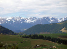 Mooie Karpatische Bergen Stock Fotografie