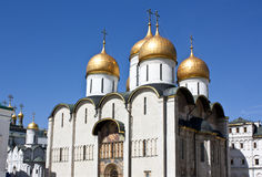 Mooie kathedraal in het Kremlin, Moskou Stock Foto