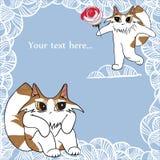 Mooie katten royalty-vrije illustratie