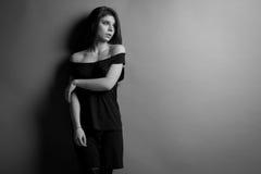Mooie Kaukasische donkerbruine vrouw Royalty-vrije Stock Afbeeldingen