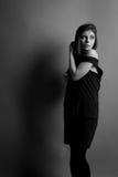 Mooie Kaukasische donkerbruine vrouw Royalty-vrije Stock Foto