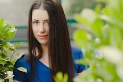 Mooie Kaukasische vrouw headshot Stock Fotografie