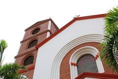 mooie kerk in Santa Cruz de la Sierra-stadscentrum, Bolivië stock foto's