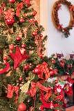 Mooie Kerstboom Stock Afbeeldingen