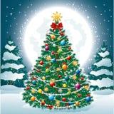 Mooie Kerstboom EPS 10 Stock Foto's