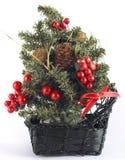 Mooie Kerstboom met het knippen van weg Royalty-vrije Stock Afbeelding
