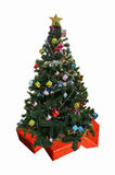 Mooie Kerstboom op giftdozen royalty-vrije stock afbeelding