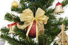Mooie Kerstmis die bubles hangen Royalty-vrije Stock Afbeeldingen