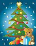 Mooie Kerstmis drie Royalty-vrije Illustratie