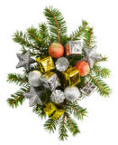 Mooie Kerstmis stelt geïsoleerd op witte achtergrond voor Royalty-vrije Stock Afbeeldingen