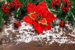 Mooie Kerstmisachtergrond Stock Afbeelding