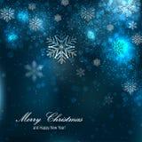 Mooie Kerstmisachtergrond met sneeuwvlokken Stock Fotografie