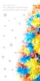 Mooie Kerstmisboom die op witte achtergrond wordt geïsoleerd Stock Foto's
