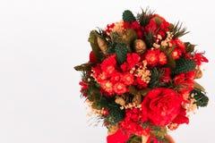 Mooie Kerstmisboom op witte achtergrond Stock Foto's