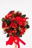 Mooie Kerstmisboom op witte achtergrond Royalty-vrije Stock Fotografie