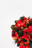 Mooie Kerstmisboom op witte achtergrond Royalty-vrije Stock Afbeeldingen