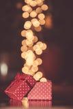 Mooie Kerstmisdoos Stock Foto's