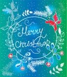 , mooie Kerstmiskroon Royalty-vrije Stock Foto's