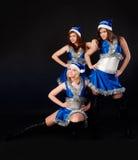 Mooie Kerstmisvrouwen Royalty-vrije Stock Afbeelding