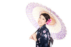 Mooie kimonovrouw Royalty-vrije Stock Afbeelding