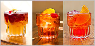 Mooie klassieke cocktails Royalty-vrije Stock Afbeelding