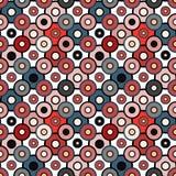 Mooie kleine cirkels in retro stijl naadloos patroon Royalty-vrije Stock Afbeeldingen