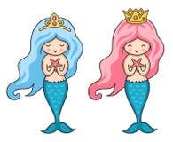 Mooie kleine meerminnen royalty-vrije illustratie