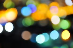 Mooie kleuren in de nacht Stock Afbeelding