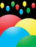 Mooie kleurenballons. Stock Afbeeldingen