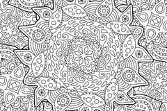 Mooie kleurende boekpagina met abstract art. vector illustratie