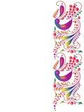 Mooie kleurenvogels, die op een wit worden geïsoleerd Stock Foto